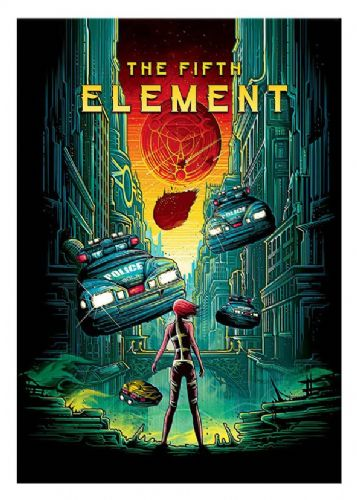 1990's Movie - THE FIFTH ELEMENT - Comic style -  canvas print - self adhesive poster - photo print